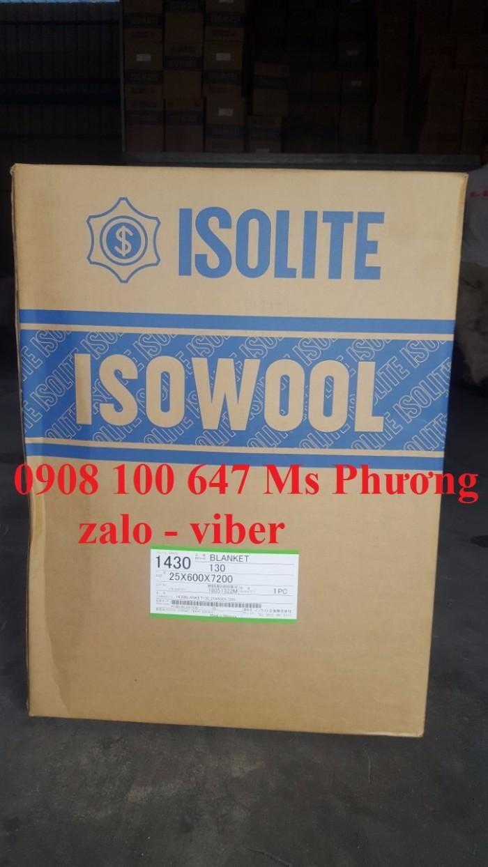 Bông ceramic tỷ trọng 130kg/m3